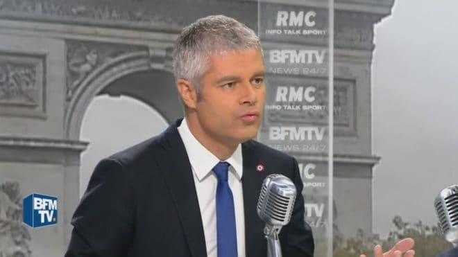 Laurent Wauquiez sur le plateau de BFMTV le 28 septembre 2016