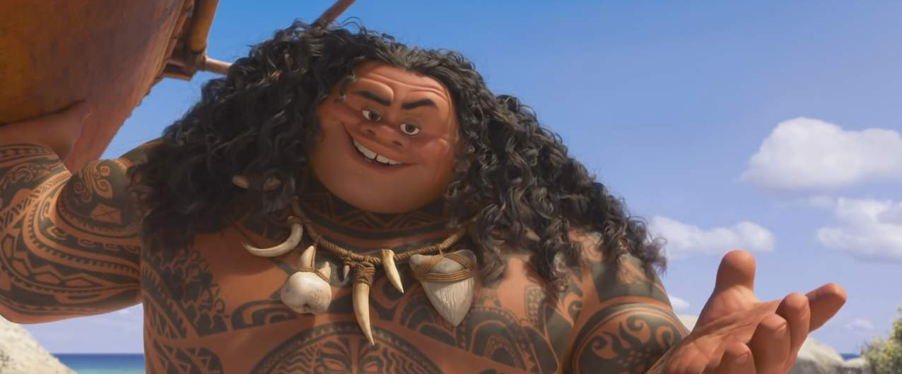 """Le personnage de Maui dans le long-métrage d'animation """"Moana"""""""