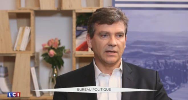"""Arnaud Montebourg dans l'émission """"Bureau Politique"""" de LCI"""