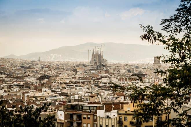Une vue de Barcelone, en Espagne.