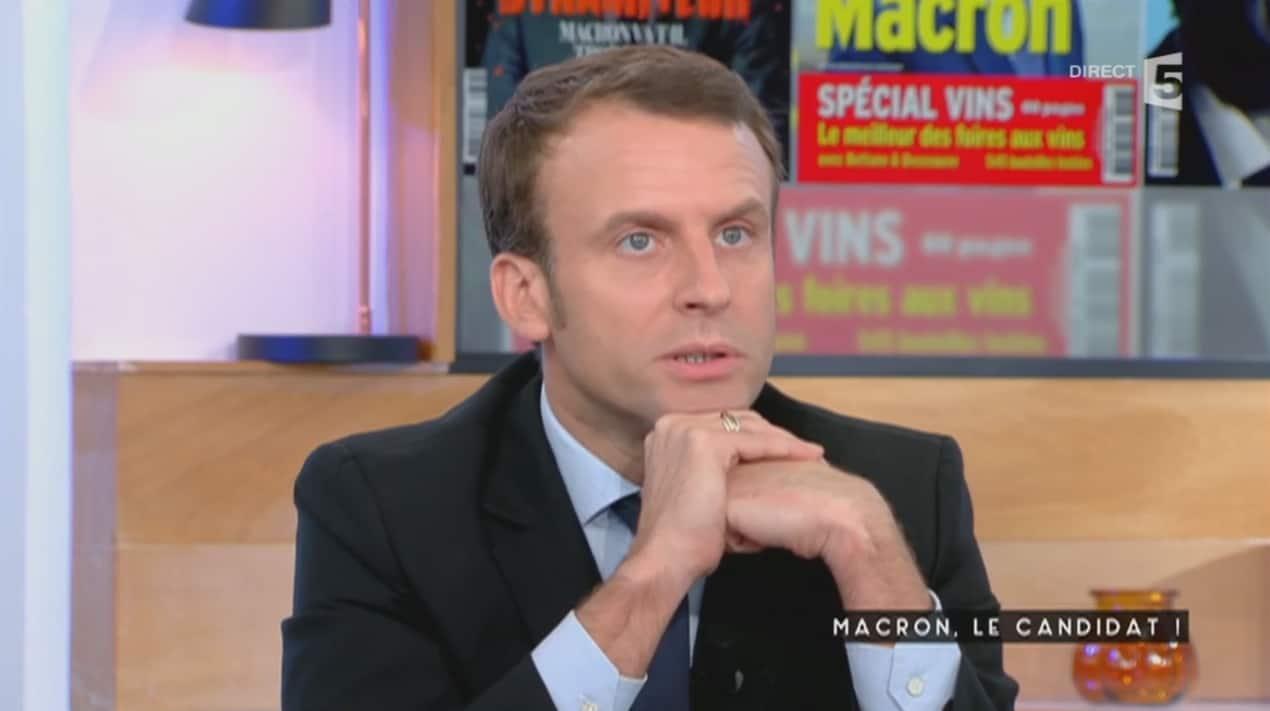 """Emmanuel Macron dans """"C à vous"""" le 24 novembre 2016"""