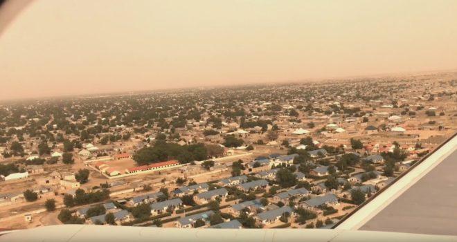 La ville de Maiduguri (Nigeria) vue d'avion