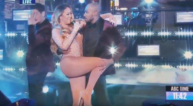 Mariah Carey au réveillon du Nouvel An à New York le 31 décembre 2016