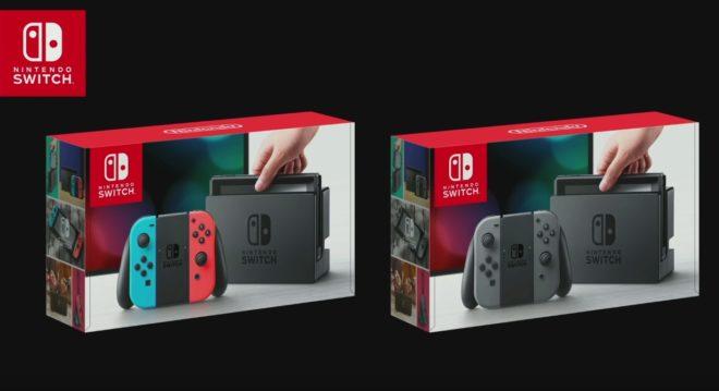 Les deux modèles de Nintendo Switch commercialisés à sa sortie