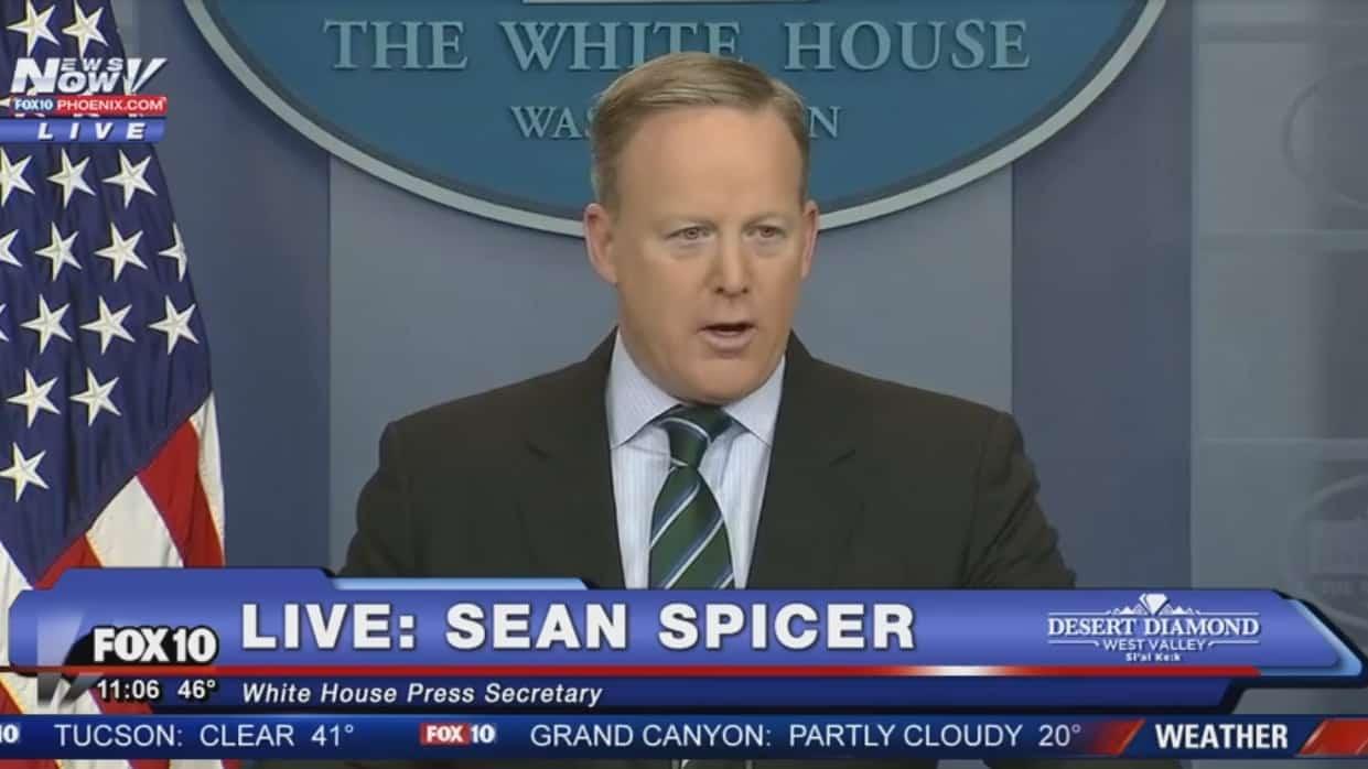 Sean Spicer, porte-parole de Donald Trump