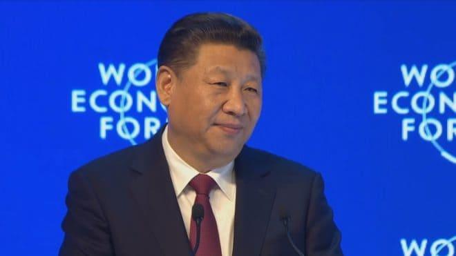 Xi Jinping au Forum économique mondial de Davos 2017