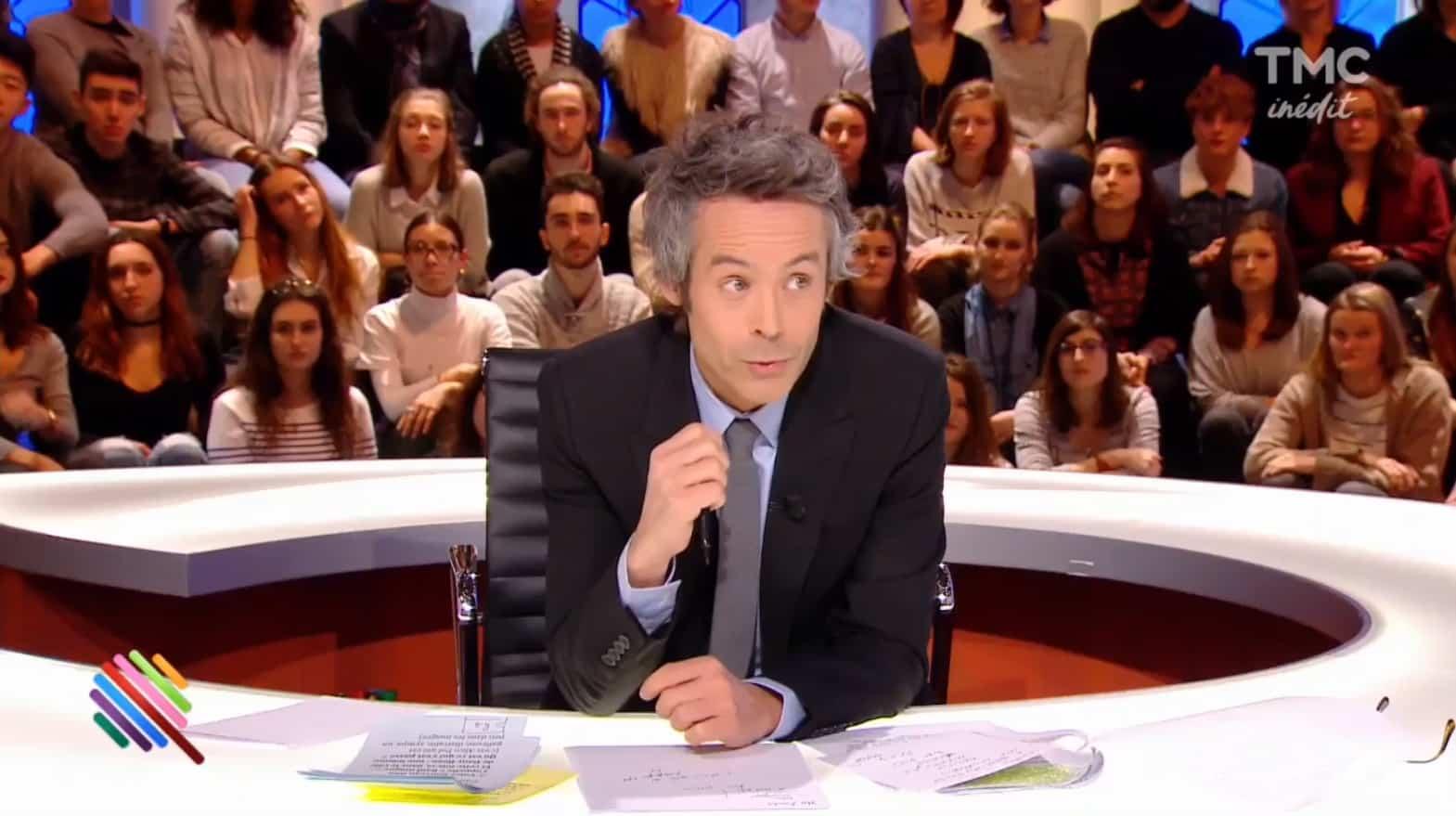 """Yann Barthès à la présentation de """"Quotidien"""" sur TMC le lundi 23 janvier 2017"""