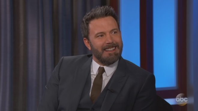 """Ben Affleck sur le plateau du """"Jimmy Kimmel Live"""""""