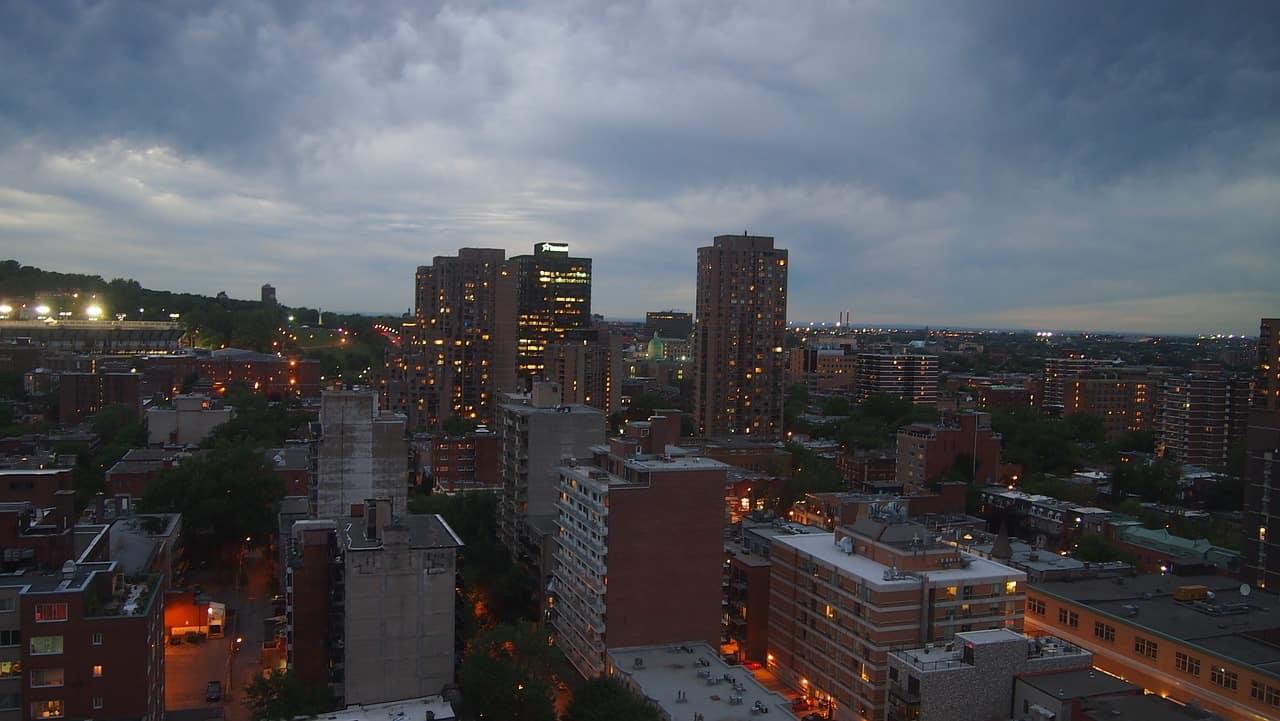 Vue de la ville de Montréal.