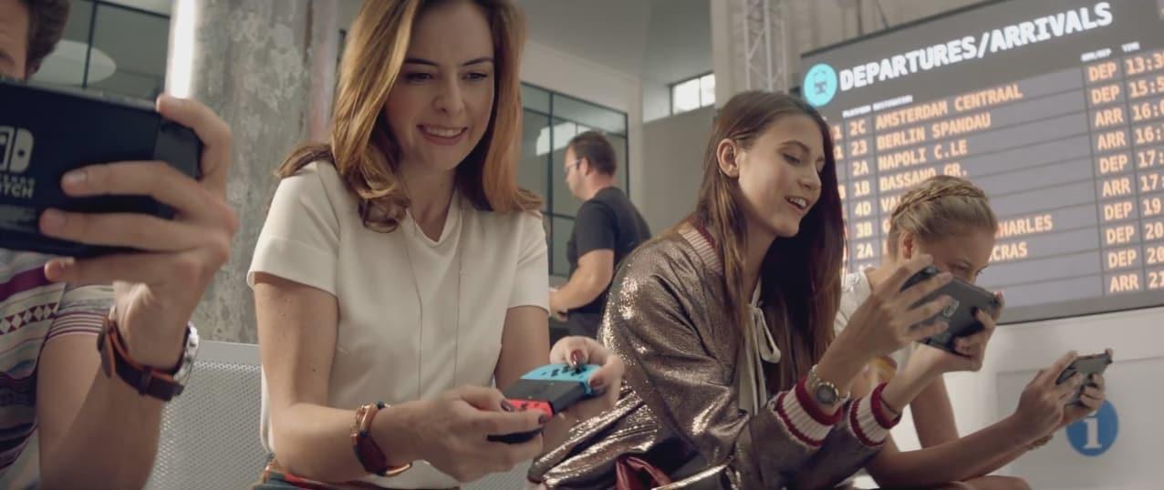 Publicité de Nintendo pour sa console Switch