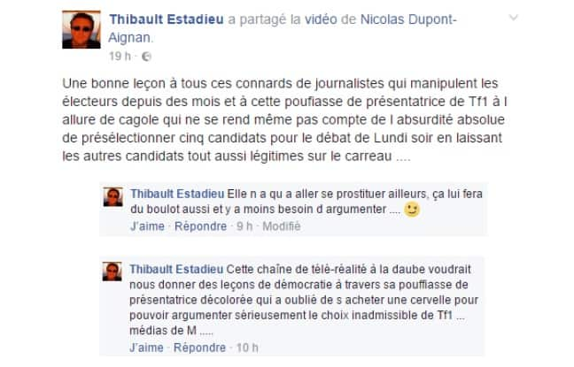 Capture écran Facebook – 20Minutes