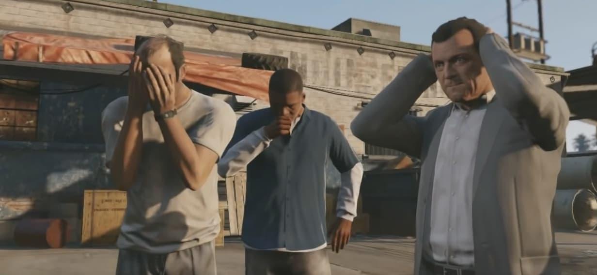 """Trevor, Franklin et Michael, personnages jouables de """"GTA 5"""""""