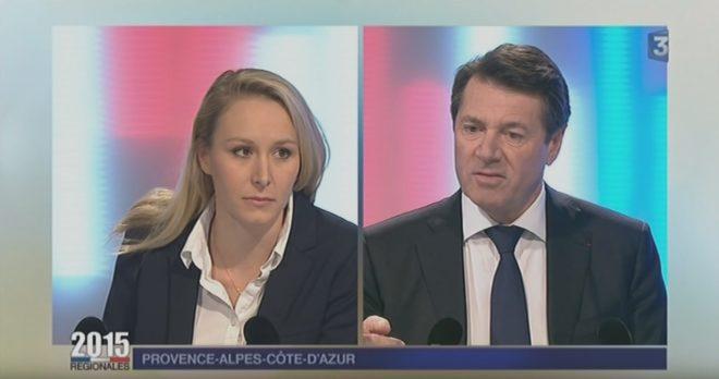 Marion Maréchal-Le Pen et Christian Estrosi en 2015