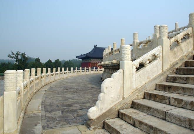 Illustration. Le Temple du Ciel, à Pékin.