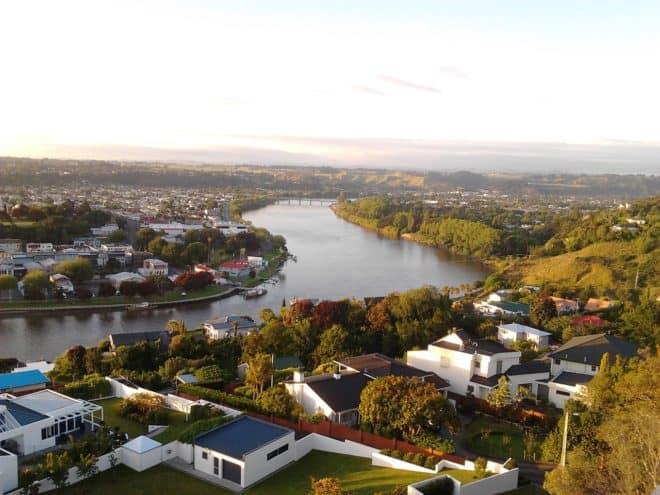 Le fleuve Whanganui, qui serprente dans l'Ile du Nord.
