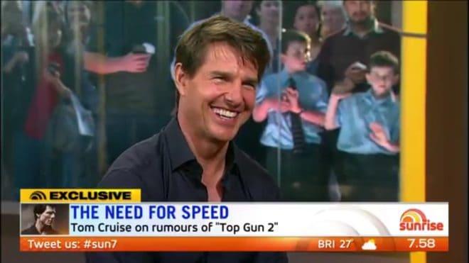 "Tom Cruise dans l'émission ""Sunrise"""