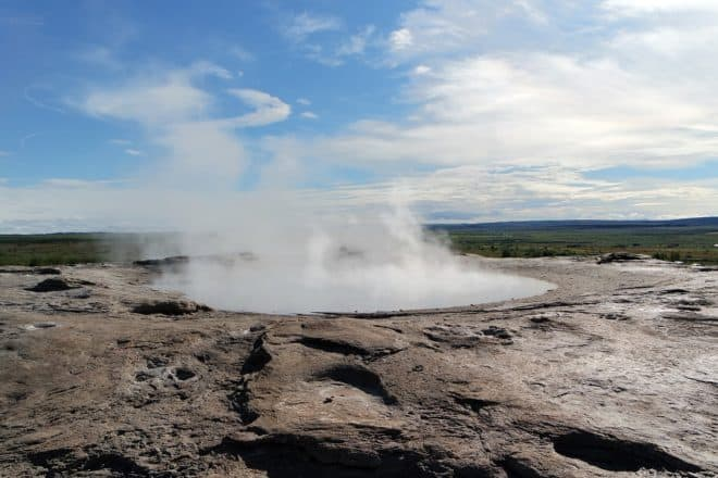 Photo d'illustration. Un heyser en Islande.