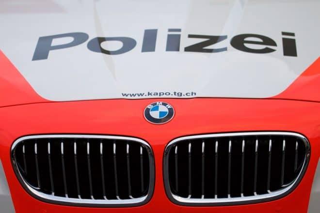 Un véhicule de police suisse. Image d'illustration.