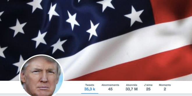 Illustration. Profil du compte Twitter de Donald Trump