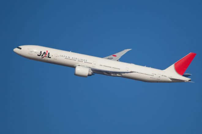 Photo d'illustration. Un Boeing 777 de la compagnie Japan Airlines.