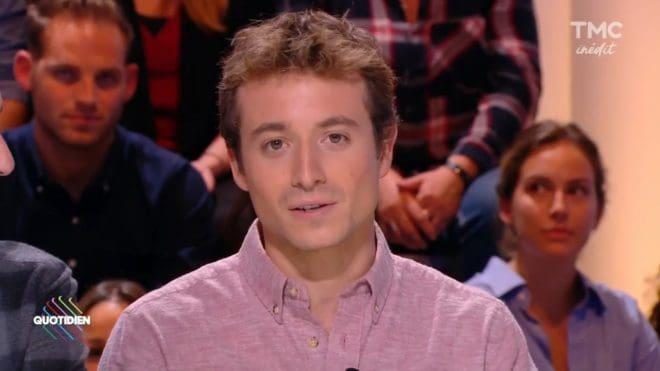 """Le journaliste Hugo Clément, alos dans """"Quotidien"""" sur TMC"""