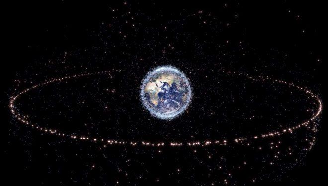 Illustration des débris gravitant autour de la Terre
