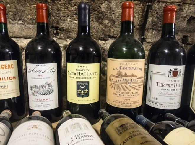 Illustration. Des grands vins de Bordeaux.