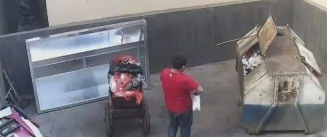 En Chine, un père de famille sur le point de jeter son nouveau-né a la poubelle