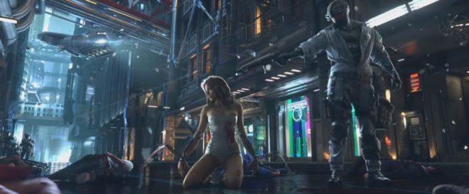Image extraite du teaser de Cyberpunk 2077
