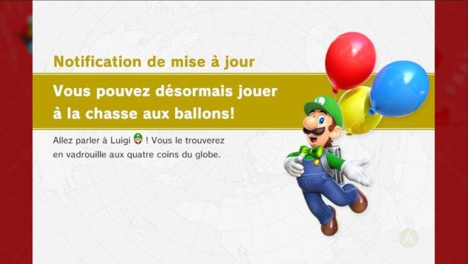 Nouveau mode de jeu de Super Mario Odyssey : la chasse aux ballons de Luigi