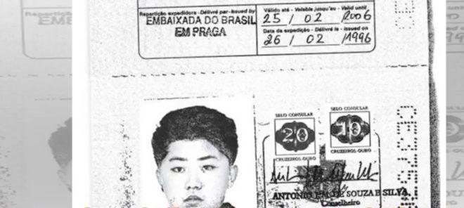 Le passeport avec lequel Kim Jong-un voyageait.