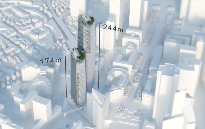 Le projet de siège de Total à La Défense.