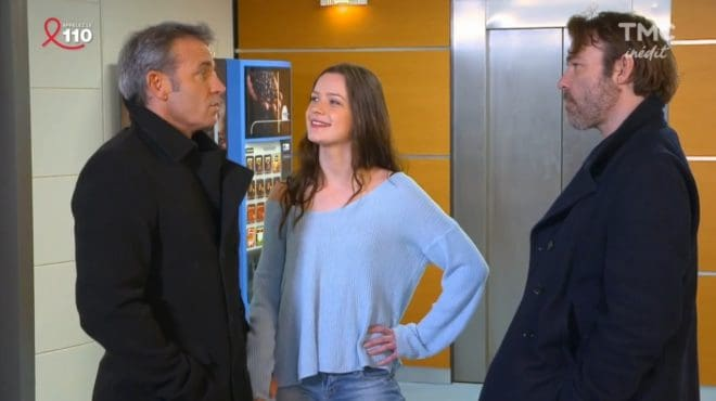 """Jimmy, Sophie et Nicolas (Les Mystères de l'Amour saison 17, épisode 11 """"Rencontre inattendue"""")"""