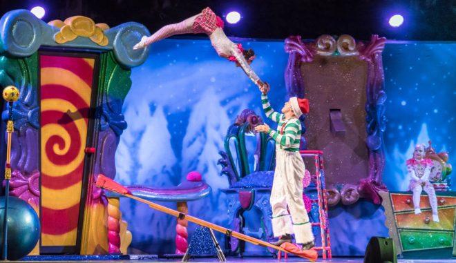 Illustration. Un numéro du Cirque du Soleil.