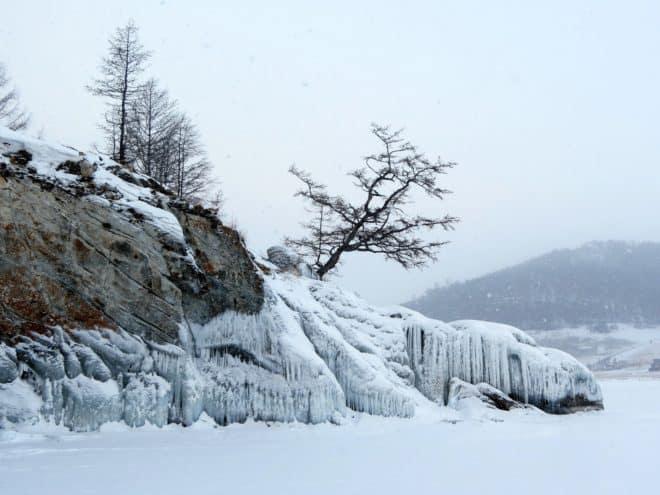 Illustration. Un paysage de Sibérie.