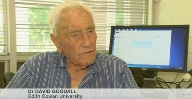 Le docteur David Goodall à l'âge de 102 ans