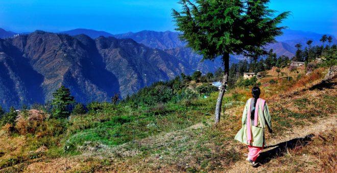 Shimla, capitale de l'État de l'Himachal Pradesh (nord de l'Inde). Image d'illustration.