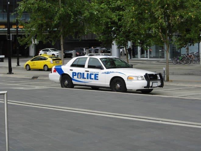 Voiture de police de Vancouver, au Canada. Image d'illustration.
