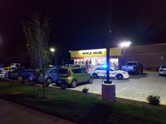 Le lieu de la fusillade à Antioch, Tennessee le 22 avril 2018.