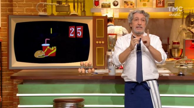 """Alain Chabat à la présentation du """"Burger Quiz"""" (numéro 10 du 16 mai 2018)"""