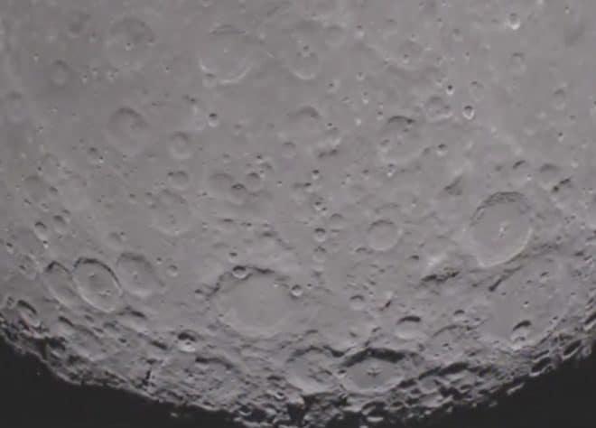 La face cachée de la Lune, ici filmée par la Nasa en 2012