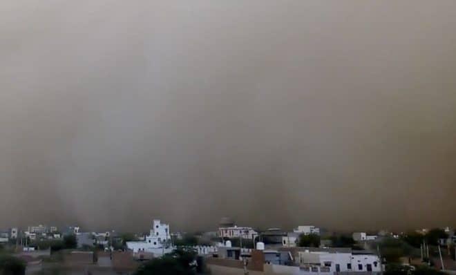 Tempête de sable dans l'Etat indien du Rajasthan, mai 2018.