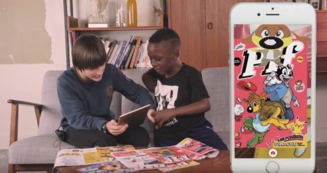 """Des enfants découvrent le magazine """"Pif"""" édition 2018"""