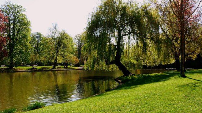 Un parc à Strasbourg. Image d'illustration.