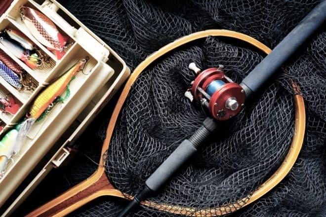 Une canne à pêche. Image d'illustration.
