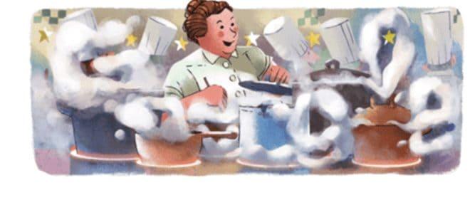 Le doodle de Google consacré à Eugénie Brazier le 12 juin 2018