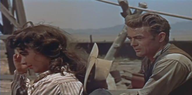 """Elizabeth Taylor et James Dean dans """"Géant"""""""