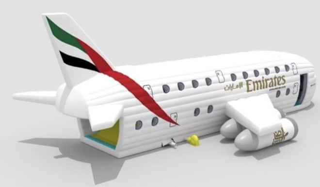 L'Airbus gonflable imaginé par Emirates.