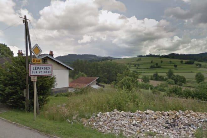 La commune de Lépanges-sur-Vologne.
