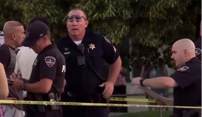 La police présente après l'attaque de Boise le 30 juin 2018